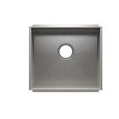 UrbanEdge® Collection 3604 Undermount 16 Gauge Stainless Steel Single Bowl Kitchen Sink, 19-1/2''W x 17-1/2''D x 8''H