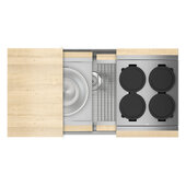 JULIEN Home Refinements SmartStation 37-1/2'' W Single Sink Set with Stainless Steel Undermount Sink and Maple Accessories, 37-1/2'' W x 19-5/8'' D x 10'' H