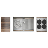 JULIEN Home Refinements SmartStation 28-1/2'' W Single Sink Set with Stainless Steel Undermount Sink and Walnut Accessories, 28-1/2'' W x 19-5/8'' D x 10'' H