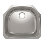 ProChef - ProInox Collection Stainless Steel Single Bowl Undermount Kitchen Sink<br> 23''W x 20-1/2''D x 9''H