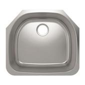 ProChef - ProInox Collection Stainless Steel Single Bowl Undermount Kitchen Sink<br> 23''W x 20-1/2''D x 9''H