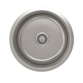 ProChef - ProInox Collection Stainless Steel Single Bowl Undermount Kitchen Sink<br> 18-1/8''Dia x 9''H