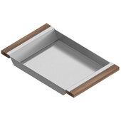 JULIEN Tray For 18'' Sink, Walnut Handles 12''W x 19''D x 2-1/4''H