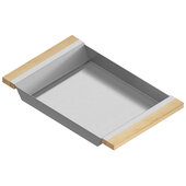 JULIEN Tray For 18'' Sink, Maple Handles 12''W x 19''D x 2-1/4''H
