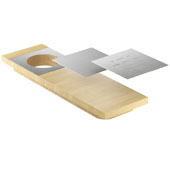 19'' Maple Presentation Board with Stainless Steel Plates, Compatible For Use with 18'' Wide Sinks