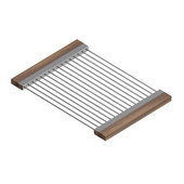 JULIEN Drying Rack For 16'' Sink, Walnut Handles 12''W x 17''D x 1''H