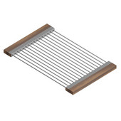JULIEN Drying Rack For 18'' Sink, Walnut Handles 12''W x 19''D x 1''H