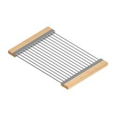 JULIEN Drying Rack For 17'' Sink, Maple Handles 12''W x 17-7/8''D x 1''H