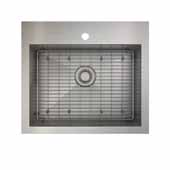 ProInox H0 kitchen sink dualmount, single with grid, stainless steel 25''W x 22''D x 9''H