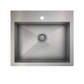 ProInox H0 kitchen sink dualmount, single, stainless steel 25''W x 22''D x 9''H