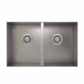 ProInox H0 collection undermount sink with double bowl in stainless steel 31''W x 18''D x 8''H