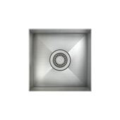 ProChef ProInox Collection Single Bowl Undermount Square Corner 18 Gauge Stainless Steel Kitchen Sink, 14'' W x 14'' D x 8'' H