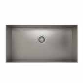 ProInox H0 collection undermount sink with single bowl in stainless steel 29''W x 18''D x 10''H