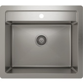 JULIEN ProInox H75 Collection Dual-Mount Stainless Steel Utility Sink, ProInox H75, 25''W x 22''D x 12''H