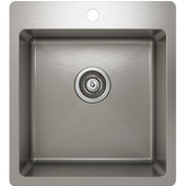 ProChef - ProInox Collection Stainless Steel Single Bowl Topmount Kitchen Sink,  18''W x 20''D x 9''H