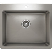 ProChef - ProInox Collection Stainless Steel Single Bowl Topmount Kitchen Sink,  23''W x 20''D x 9''H