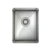 ProChef ProInox Collection Single Bowl Undermount Round Corner 18 Gauge Stainless Steel Kitchen Sink, 14'' W x 18'' D x 8'' H