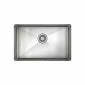 JULIEN ProInox H75 Collection ADA Undermount Single Bowl Kitchen Sink, 18 Gauge Stainless Steel, 27''W x 18''D x 5-1/2''H