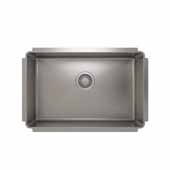 JULIEN ProInox H75 Collection Undermount Single Bowl Kitchen Sink, 18 Gauge Stainless Steel,  27''W x 18''D x 8''H