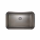 JULIEN ProInox H75 Collection Undermount Single Bowl Kitchen Sink, 18 Gauge Stainless Steel, 29''W x 18''D x 10''H
