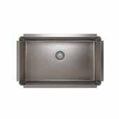 JULIEN ProInox H75 Collection Undermount Single Bowl Kitchen Sink, 18 Gauge Stainless Steel, 29''W x 18''D x 8''H
