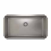 JULIEN ProInox H75 Collection Undermount Single Bowl Kitchen Sink, 18 Gauge Stainless Steel,  32''W x 18''D x 8''H