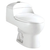 Brass One-Piece Dual Flush Toilet, 1.1/1.6 GPF Capacity, 15-3/4''W x 27-9/16''D x 24-13/16''H