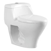 Brass One-Piece Dual Flush Toilet, Soft Close Seat, 1.1/1.6 GPF Capacity, 16-9/16''W x 26-15/16''D x 24-13/16''H