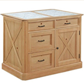 47'' Wide Country Lodge Kitchen Island in Natural Honey Pine, 47'' W x 30'' D x 36'' H
