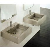 Stainless Steel Square Vessel Bathroom Sink, 17-5/8''W x 17-5/8''D x 4-7/8''H, 18 Gauge