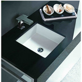 Undermount Vitreous China Square Sink, 16''W x 16''D x 6-3/4''H