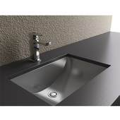 - Bathroom Undermount Sink, 21''W x 15''D x 6-1/2''H