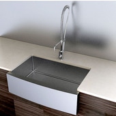 Stainless Steel Kitchen Sink 33''W x 21''D x 10'' H, 18 Gauge