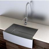 Stainless Steel Kitchen Sink 33''W x 21''D x 10'' H, 18 Gauge
