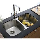 S/Steel Kitchen Sink, 32-1/4''W x 18-1/2''D x 9''H