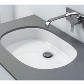 Vitreous China Undermount Oval Bathroom Sink with Overflow in White, 20-3/4'' W x 15'' D x 6-1/2'' H