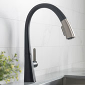 Nolen™ Spot Free Finish Dual Function Pull-Down Kitchen Faucet Stainless Steel/Matte Black