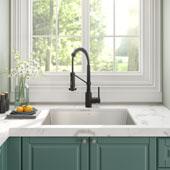 28-1/2'' 16 Gauge Pax™ Kitchen Sink Combo Set with Matte Black Bolden™ 18'' Kitchen Faucet and Soap Dispenser 28-1/2''W x 18-1/2''D x 10''H
