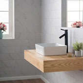 White Rectangular Ceramic Sink and Sheven Faucet, Oil Rubbed Bronze