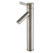 KRAUS Sheven™ Tall Vessel Bathroom Faucet, Satin Nickel Finish
