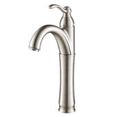 KRAUS Riviera™ Tall Vessel Bathroom Faucet, Satin Nickel Finish