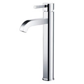 KRAUS Ramus™ Tall Vessel Bathroom Faucet, Chrome Finish