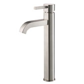 KRAUS Ramus� Tall Vessel Bathroom Faucet, Satin Nickel Finish