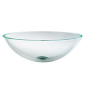 Crystal Clear Glass Vessel Sink, 16-1/2'' Dia. x 5-1/2'' H