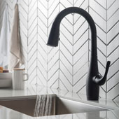 Esina™ Matte Black Finish Dual Function Pull-Down Kitchen Faucet