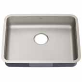 Dex 25'' Undermount 16 Gauge Antibacterial Single Bowl ADA Kitchen Sink in Stainless Steel,  24-3/4'' W x 18-7/8'' D x 5-1/2'' H