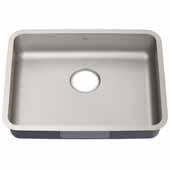KRAUS Dex™ 25'' Undermount 16 Gauge Stainless Steel Single Bowl Antibacterial ADA Kitchen Sink, Overall: 24-3/4'' W x 18-7/8'' D x 5-1/4'' H