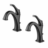 Arlo™ Single Handle Basin Bathroom Faucet With Lift Rod Drain And Deck Plate (2-Pack) In Matte Black