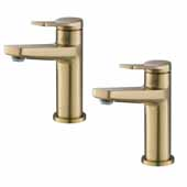 Indy™ Single Handle Bathroom Faucet In Brushed Gold (2-Pack)