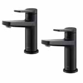 Indy™ Single Handle Bathroom Faucet In Matte Black (2-Pack)